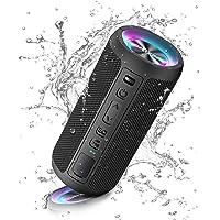 Ortizan Altavoz Bluetooth inalámbrico portátil, luz LED, reproducción IPX7 30H, Volumen más Alto y Bajos mejorados…