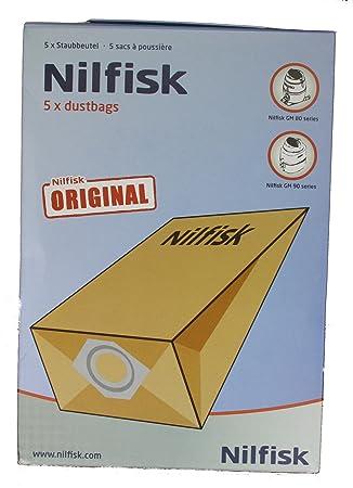 Nilfisk de madreperla y crin de GS80, GS90, GM80, GM90 bolsas para aspiradoras , 5 unidades