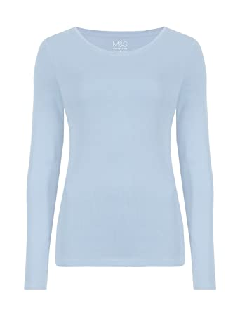 e9f56bf03cf Ladies Marks   Spencer Long Sleeve 100% Cotton T-Shirt StayNew Technology  M S (