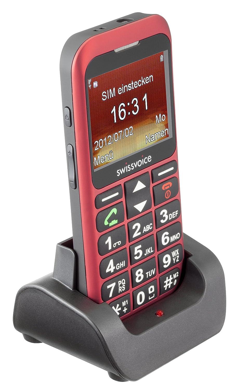 T�l�phone GSM SWISSVOICE MP33 NOIR ROUGE