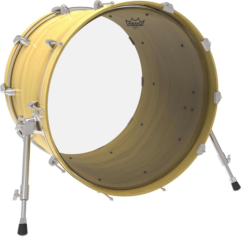 "Remo Emperor Clear 24/"" Bass Drum Head"