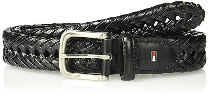 9af79614 Tommy Hilfiger Men's Braided Belt (With Big & Tall Sizes): Amazon.co.uk:  Clothing