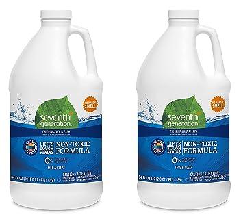 Seventh Generation - Chlorine Free Bleach 21 Loads, Free & Clear - 64 fl  oz  (2 Pack)