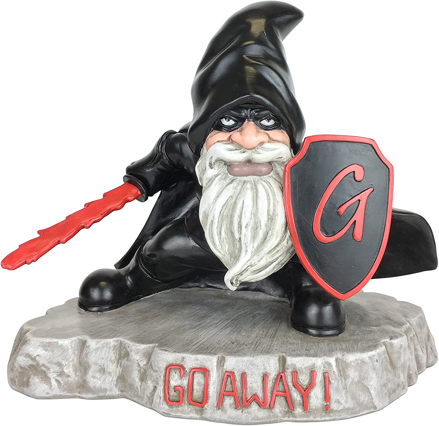 GlitZGlam Warrior Gnome with Shield - Protector of The Garden Gnomes and Guardian of The Enchanted Miniature Fairies in Lawn Gnome Land
