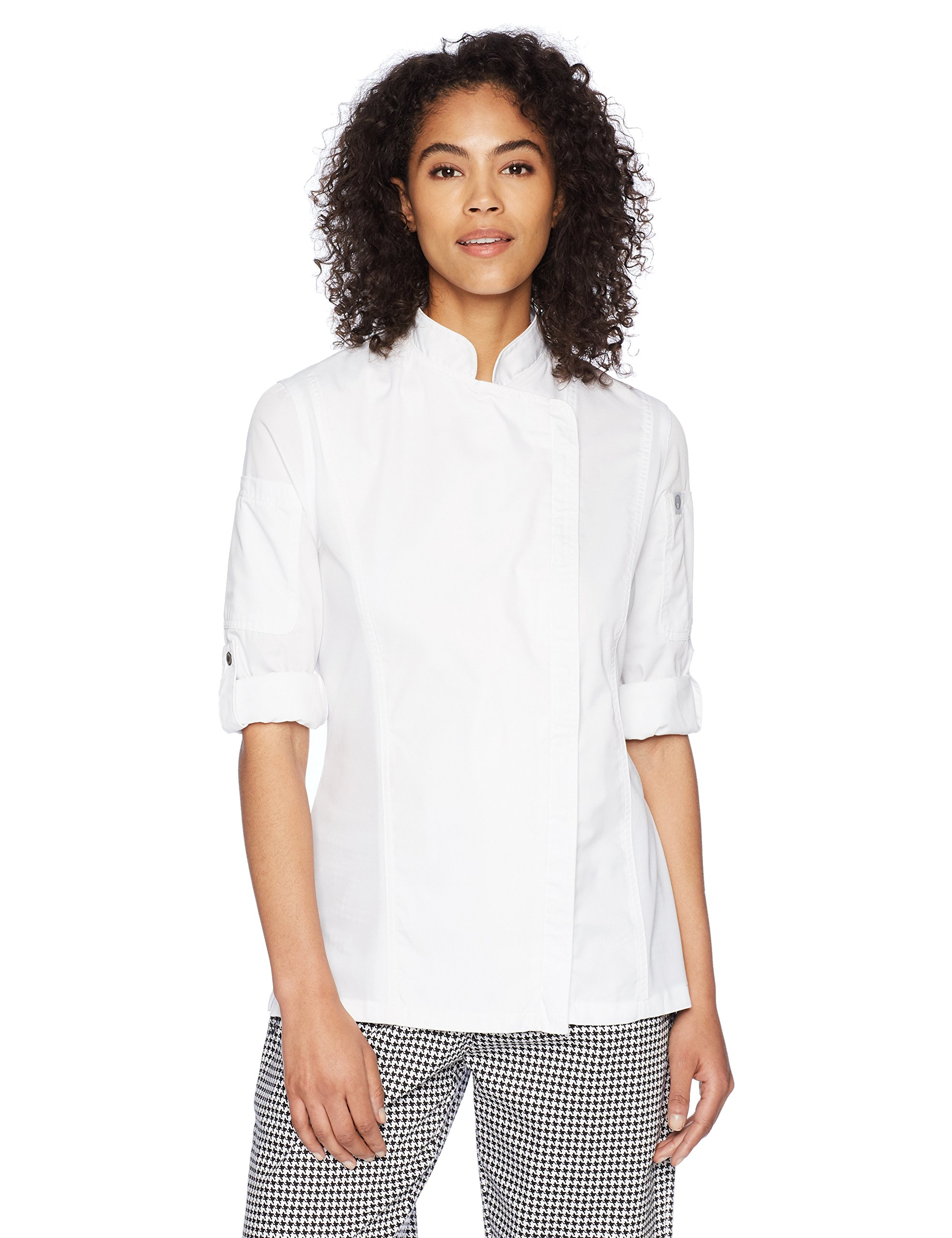Chef Works Women's Hartford Chef Coat, White, Large