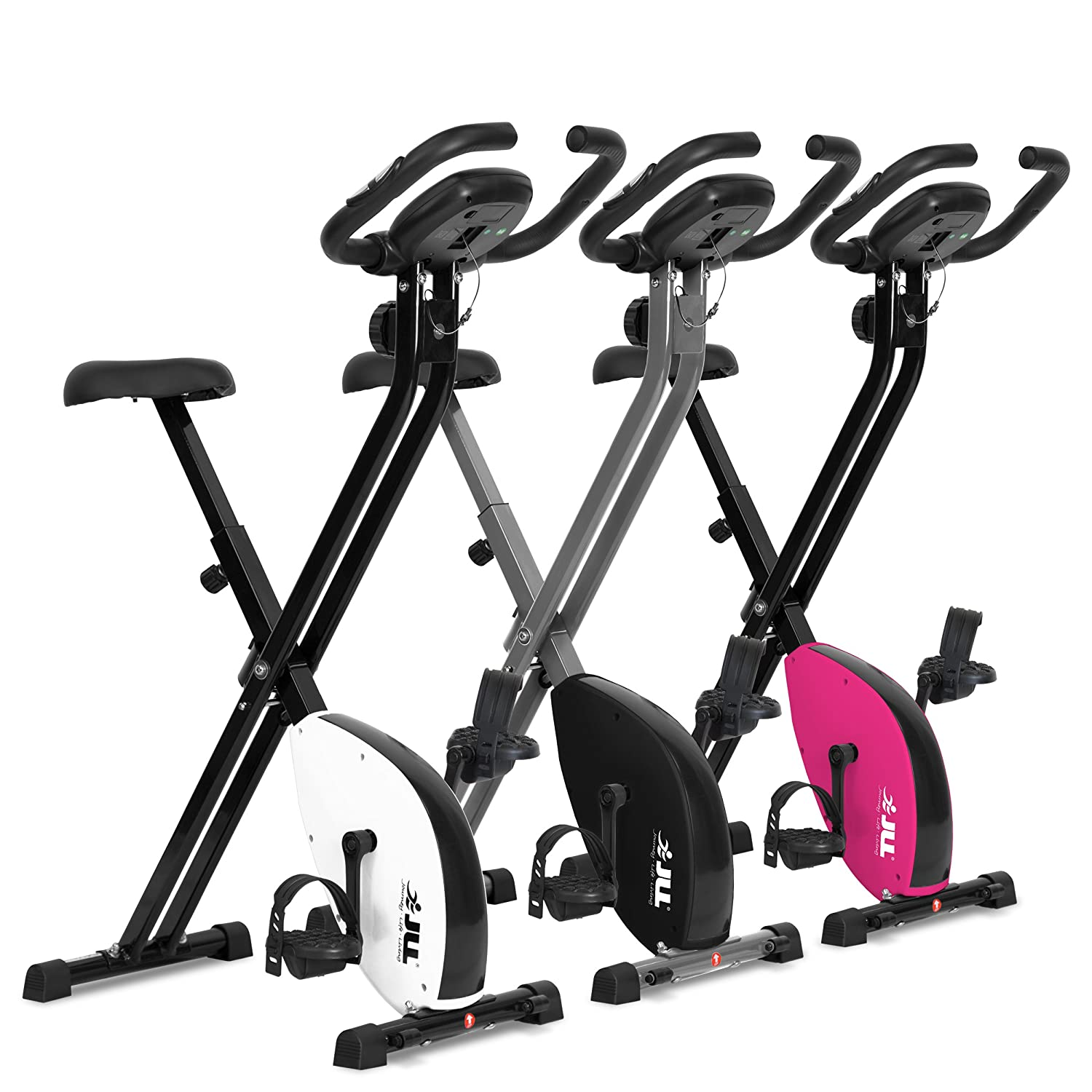 JLL® VX Foldable Home Exercise Bike With Magnetic Resistance (White):  Amazon.co.uk: Sports & Outdoors