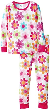 53e59823f019 Amazon.com  Gerber Baby and Little Girls  2 Piece Thermal Pajamas ...