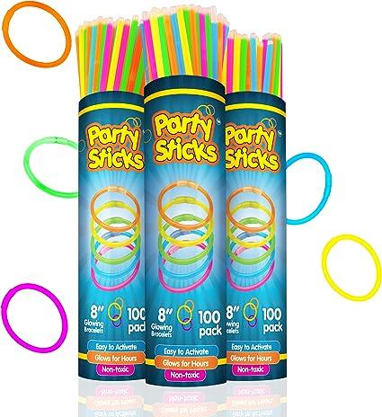 """500 8/"""" Glow Bracelets Bright Light Stick Party Favor"""