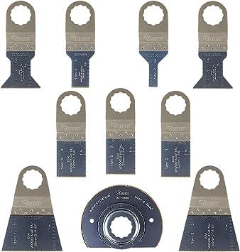 10/x sabrecut sck10bm hojas para sierra cuchillas para Fein Supercut y Festool Vecturo multiherramienta oscilante multi herramienta accesorios