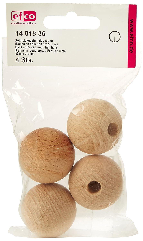 braun efco B/älle unbehandeltem Holz H/älfte Loch 35/mm /Ø 8/mm 4/Pcs