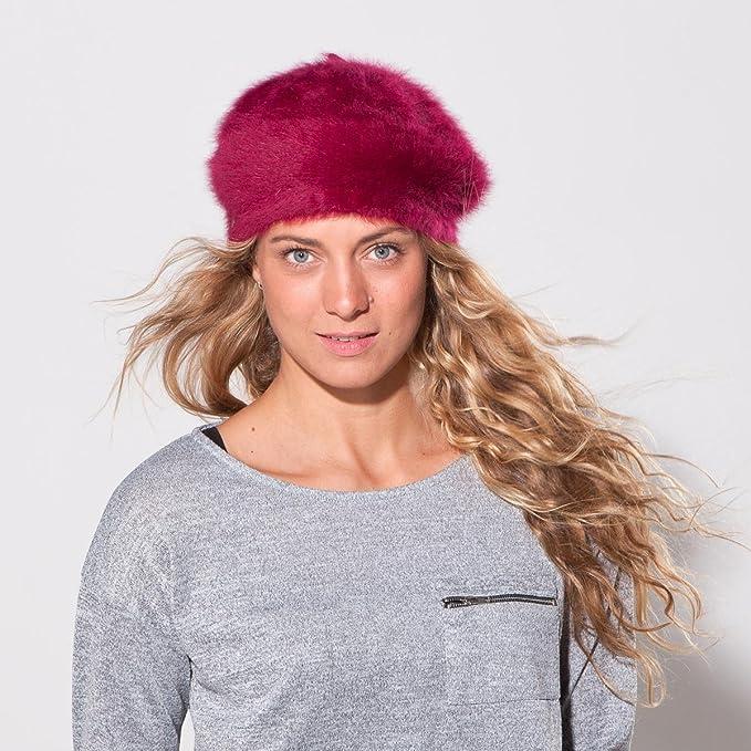 d9cc47ec4a7 Angora Beret Seeberger women ´s beret winter beret (One Size - fuchsia)   Amazon.co.uk  Clothing