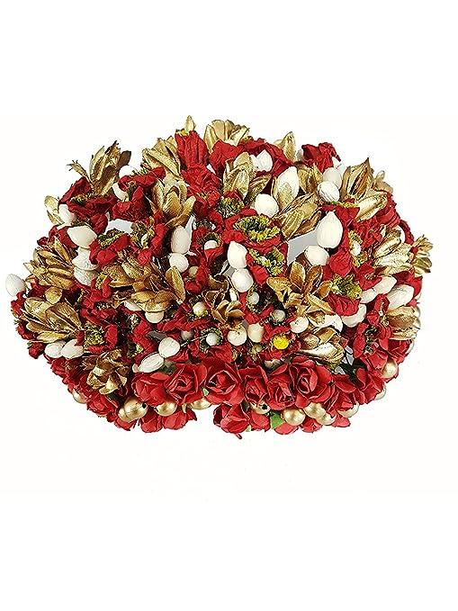 Buy south indian wedding full flower hair accessories for bun south indian wedding full flower hair accessories for bun decoration gajra bun maker hair accessories junglespirit Gallery