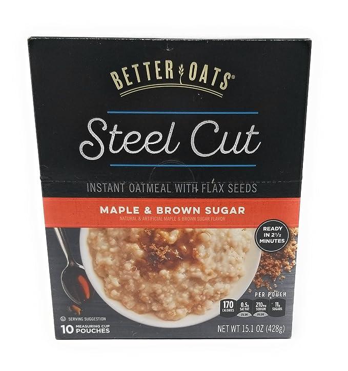 Better Oats - Acero corte de arce de azúcar morena 15,1 ...
