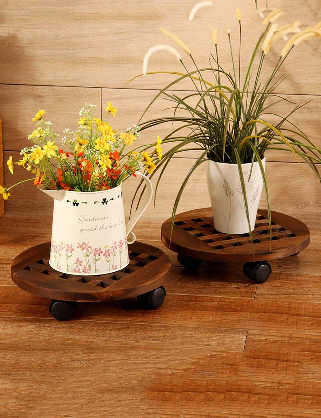 LB huajia ZHANWEI Beweglicher Blumen-Feld-Riemenscheiben-Blumen-Zahnstange-runder Boden-Art Balkon-Blumen-Zahnstange (2 Stücke)