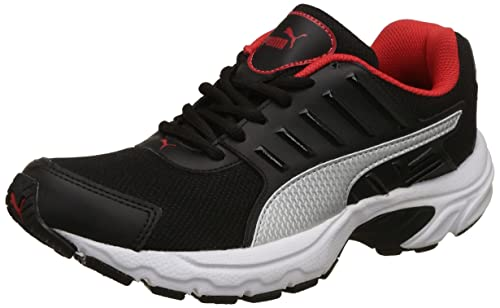 923665680672 Puma Men s Black Silver-High Risk Red Running Shoes-6 UK India (39 ...