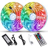 Litake LED Strip Lights 65.6ft/20m Ultra-Long RGB LED Light Strips Dimmable Color Changing Strip Lights with 44 Keys…