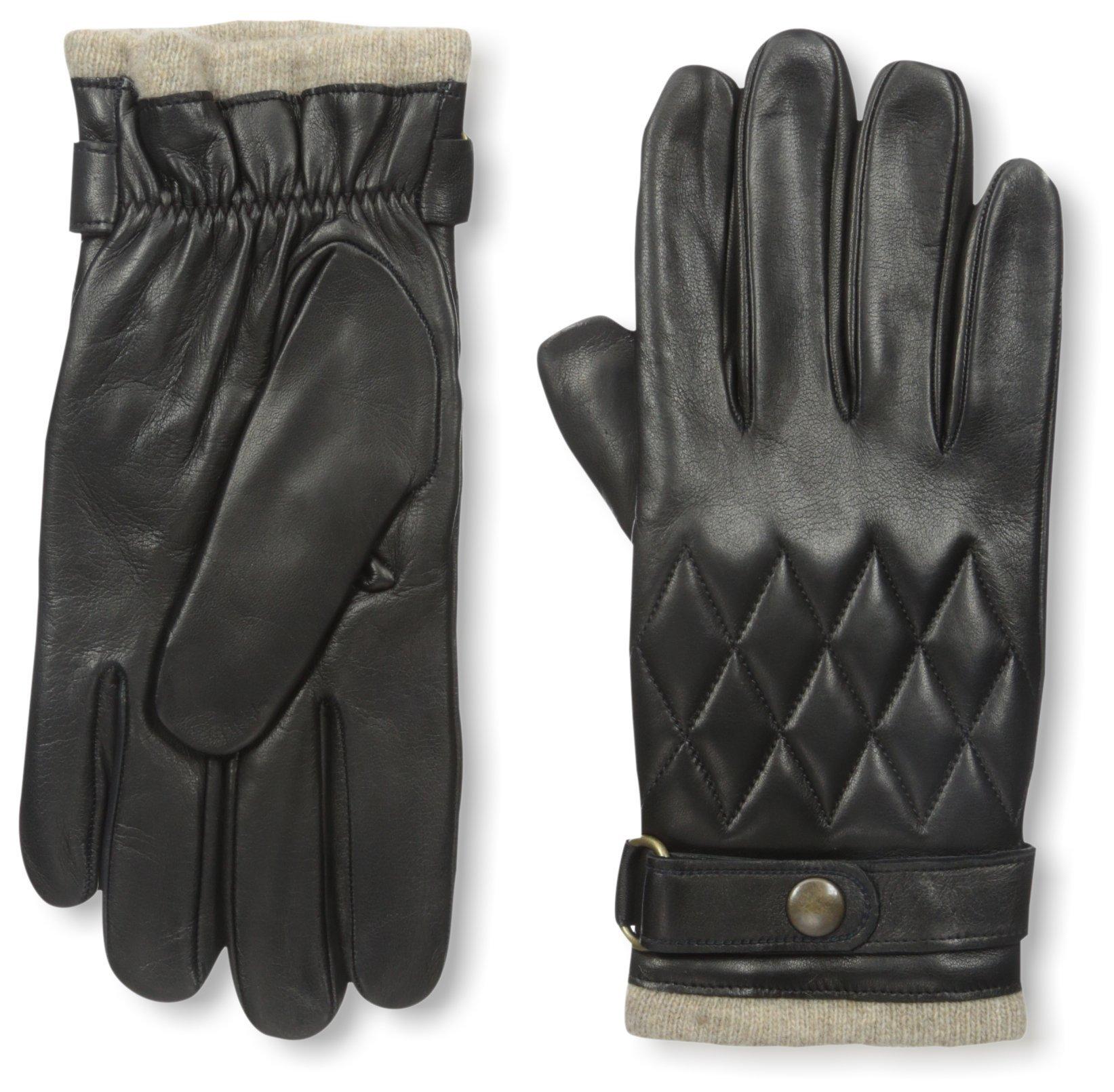 Franklin Tailored Men's Nappa Snap Closure Glove, Black, M