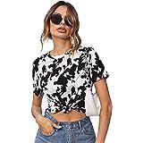 SweatyRocks Women's Leopard Print Short Sleeve...