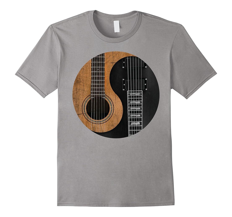 Guitar Yin Yang Music Rock Band Funny Cool Gift T-shirt-TD