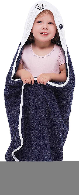 Aqua - Dino Be Mammy Kapuzenhandtuch Babyhandtuch aus Baumwolle Oeko-Tex Standard 100 100cm x 100cm BE20-240-BBL