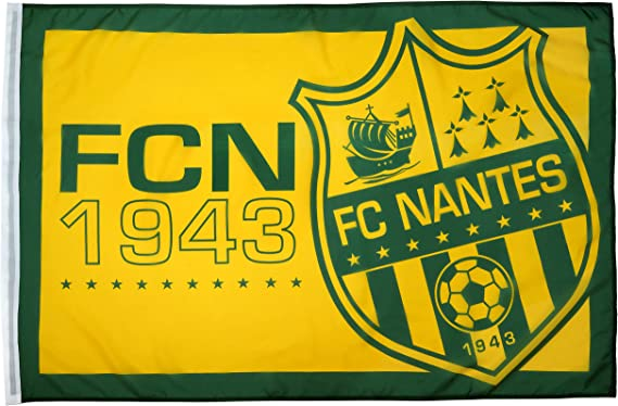 Fc Nantes - Bandera oficial del FC Nantes Atlantique: Amazon.es: Deportes y aire libre