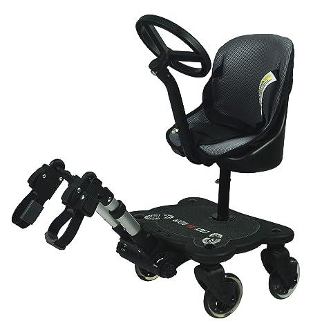 Easy X4 Rider Sit N Ride - Silla de paseo universal con 4 ruedas y asiento y volante para adaptarse a todos los cochecitos y carritos