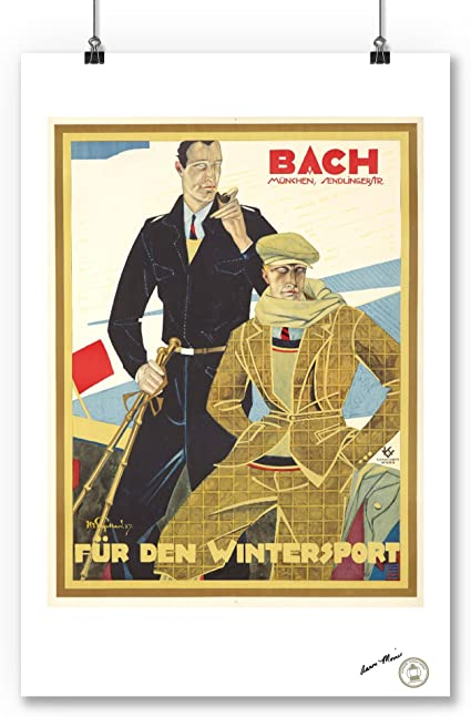 for the winter sport JULIUS USSY ENGELHARDT germany 1927 ad poster 24X36