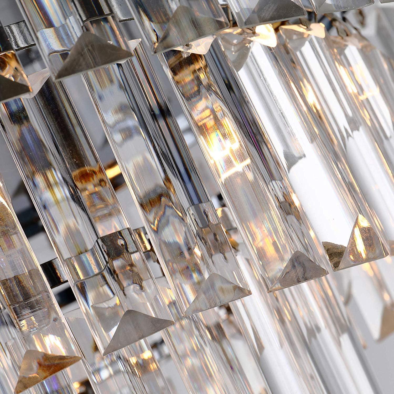 Asvert Modern Kristall Kronleuchter LED Kristall Deckenleuchte Modern Hängelampe Lüster für Villa Hotel Wohnzimmer Esszimmer usw. (S-4) S-2