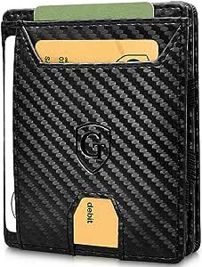 GenTo® FLAPLET I Magic Wallet - Protección certificada de RFID y NFC - Billetera Inteligente, Delgada y sin Compartimento para Monedas - Regalo para Hombres con Caja de Regalo