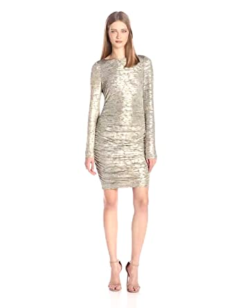 Vince camuto gold dress
