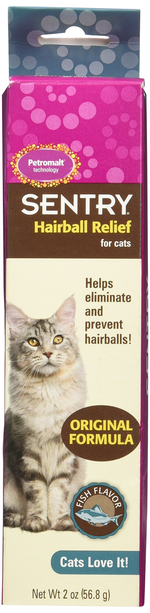 Sentry HairBall Relife Petrodex Petromalt Fish Flavored, 2.0-Ounce