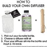 Hosley Set of 4 Glass Diffuser Bottles