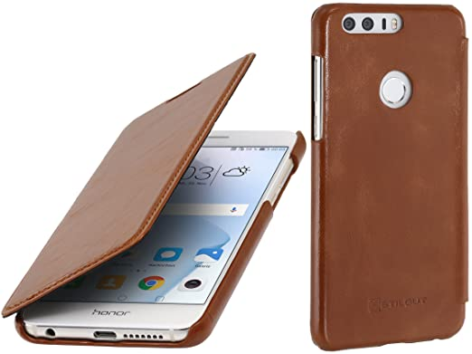 2 opinioni per StilGut Book Type Case senza clip, custodia in pelle cover per Huawei Honor 8
