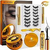 BIOSCEN Magnetic Lashes, 6D Magnetic Eyelashes with Eyeliner with Case, Reusable Fake Eyelashes Natural Look [9 Pairs-9 Style