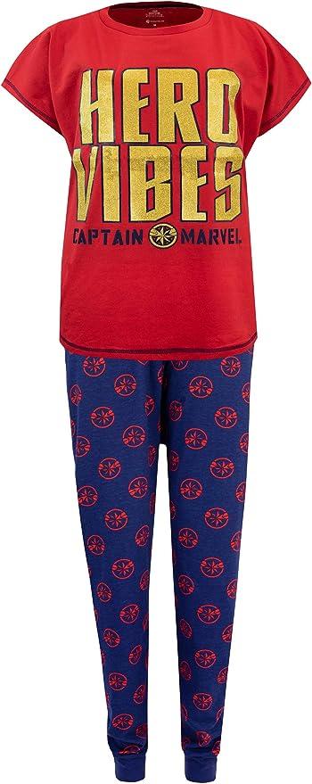 Marvel Capitana Pijama para Mujer Rojo XX-Large: Amazon.es: Ropa y accesorios
