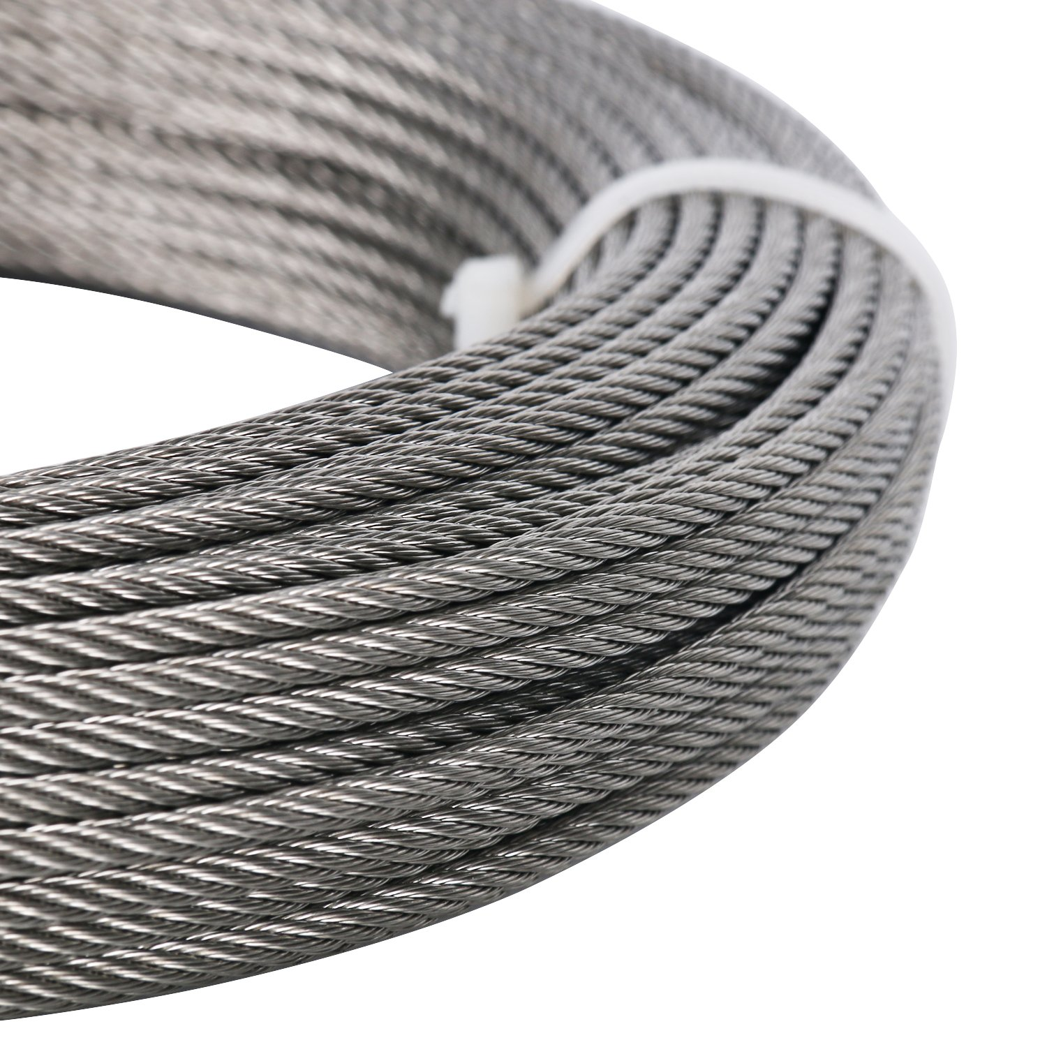 DasMarine Stainless Aircraft Steel Wire Rope Cable for Railing,Decking, DIY Balustrade, 1/8Inch,7x7,164Feet by DasMarine (Image #4)