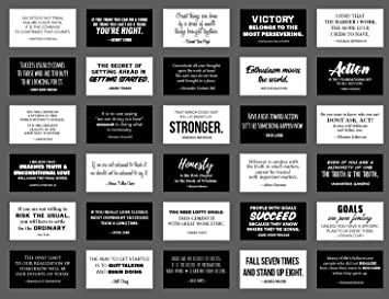 30 Elegant Noir Et Blanc Cartes De Citation Motivation Taille Carte Visite Avec