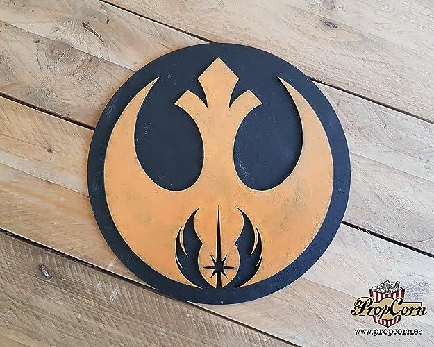 STAR WARS Orden Jedi Alianza Rebelde logo. Cartel en madera para decorar. Jedi,