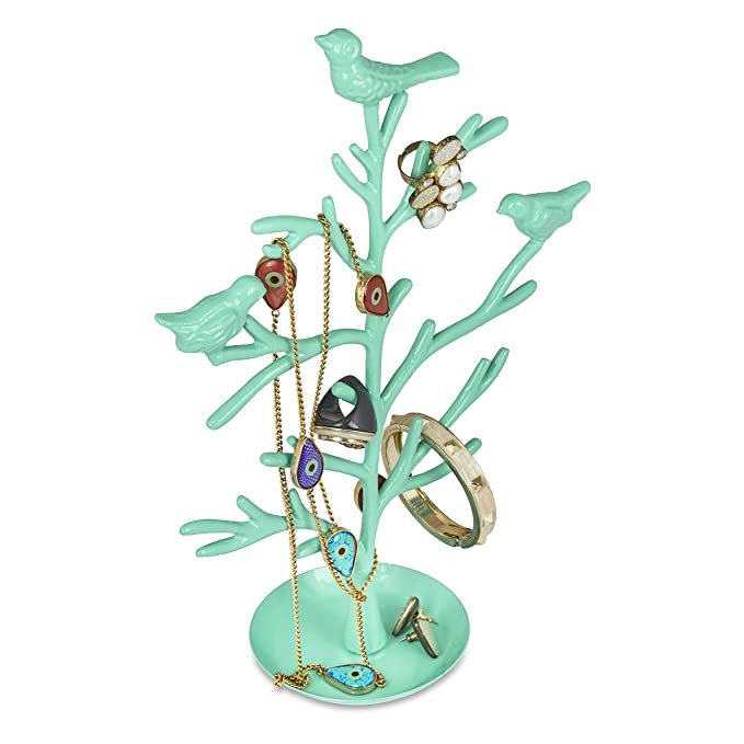 Elan Jewelry Stand Tree, Jewellery Organiser For Women, Jewelry Stand Display, Jewelry Stand For Shop, Aqua Home Storage & Organization at amazon