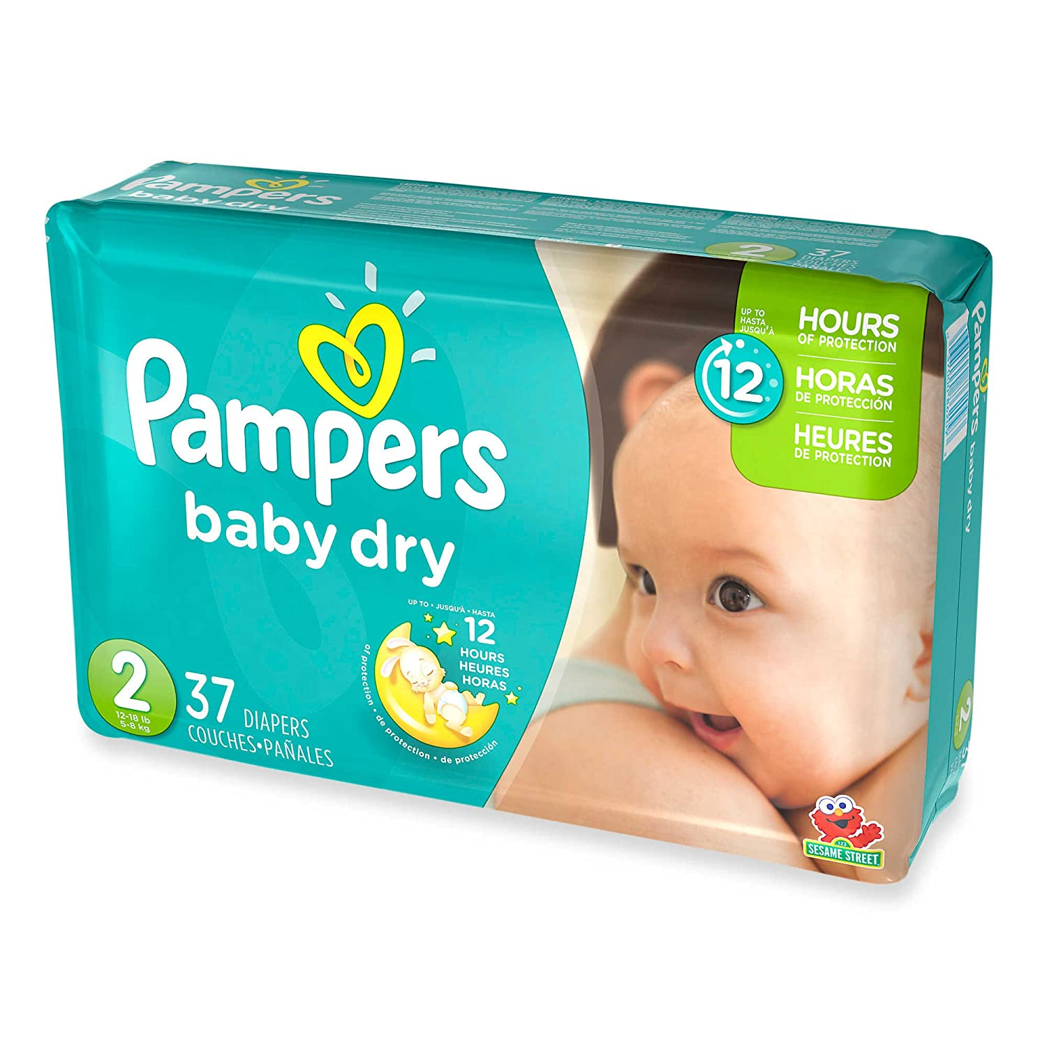 3 Layers Of Protection, Jumbo Pack Size 2 Disposable Diapers, (37-Count) Pampers