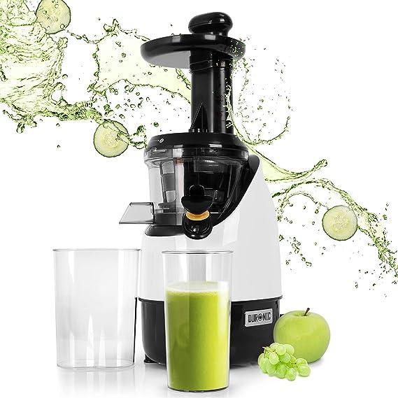 Duronic JE2 Licuadora de 200W para frutas y verduras – 2 Velocidades – Boca Ancha 45 mm – Boquilla antigoteo – Jarra de 600ml – Libre de BPA – Filtro Pulpa: Amazon.es: Hogar