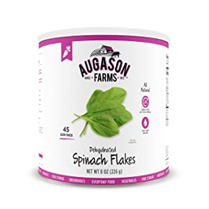 Augason Farms Dehydrated Spinach Flakes 8 oz No. 10 Can