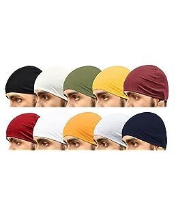 Motus Men's and Women's Cotton Helmet Skull Cap (Free Size) -10 Pieces