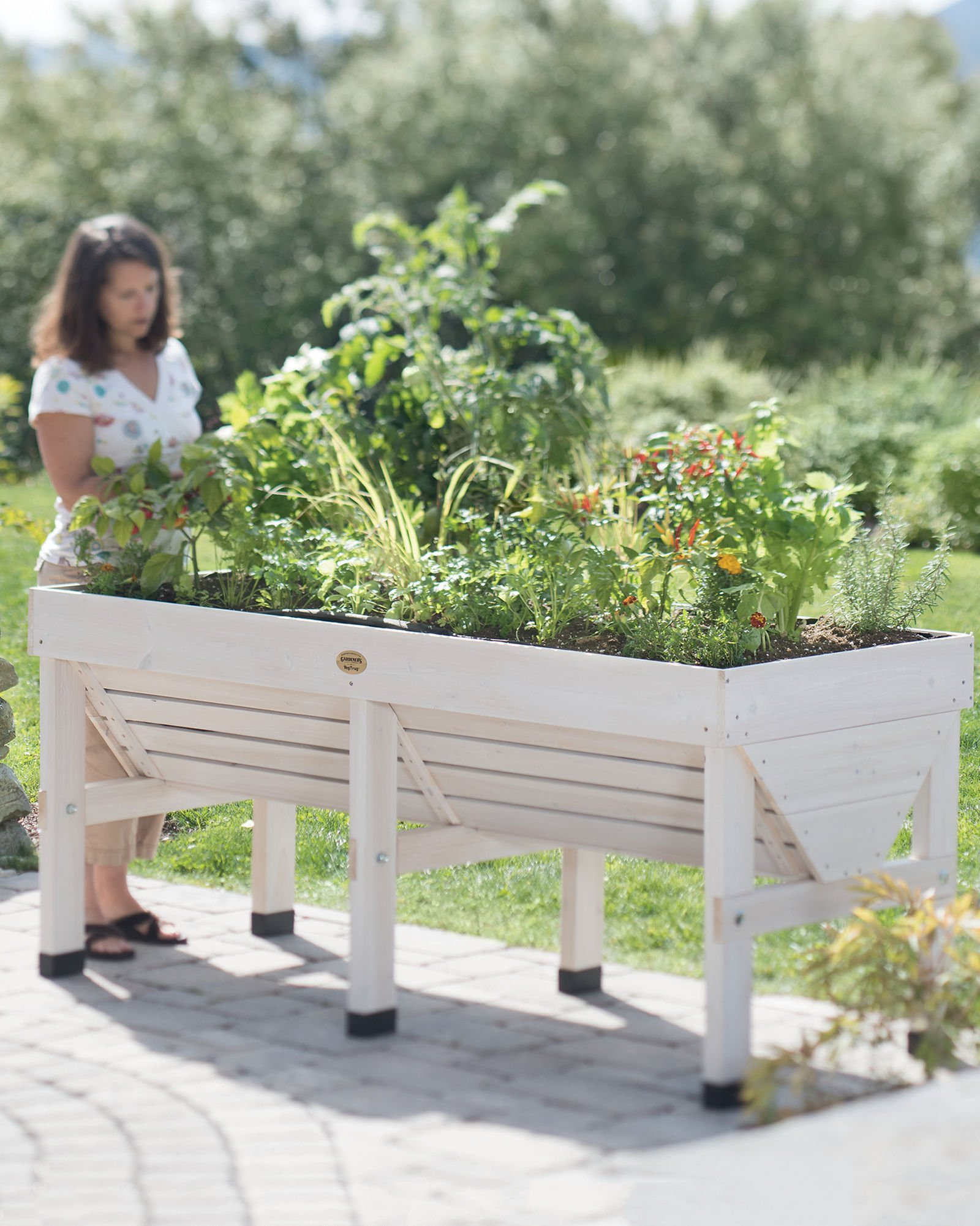 VegTrug8482; Patio Garden with Covers, Whitewash by Gardener's Supply Company