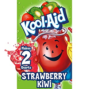Kool-Aid Strawberry Kiwi Flavored Unsweetened Caffeine Free Powdered Drink Mix (192 Packets)