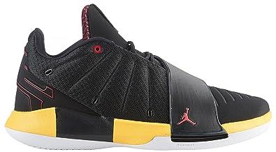 sports shoes ef94a 3afdd Nike Jordan Men s CP3.XI Basketball Shoes (7.5, Black Yellow Red
