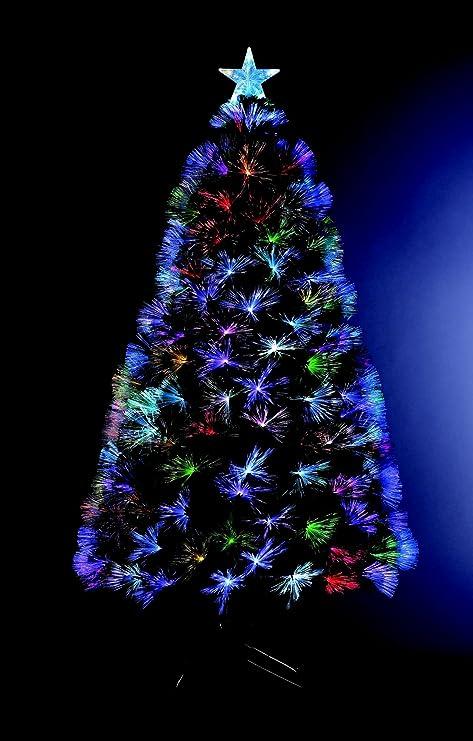 88 LED 8 Jeux de lumi/ère Sapin de No/ël artificiel lumineux en fibre optique Hauteur 90 cm livr/é avec son pied
