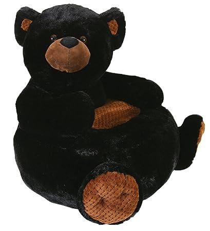 Stephan Baby Plush Nursery Decor Chair, Black Bear, 26u0026quot;
