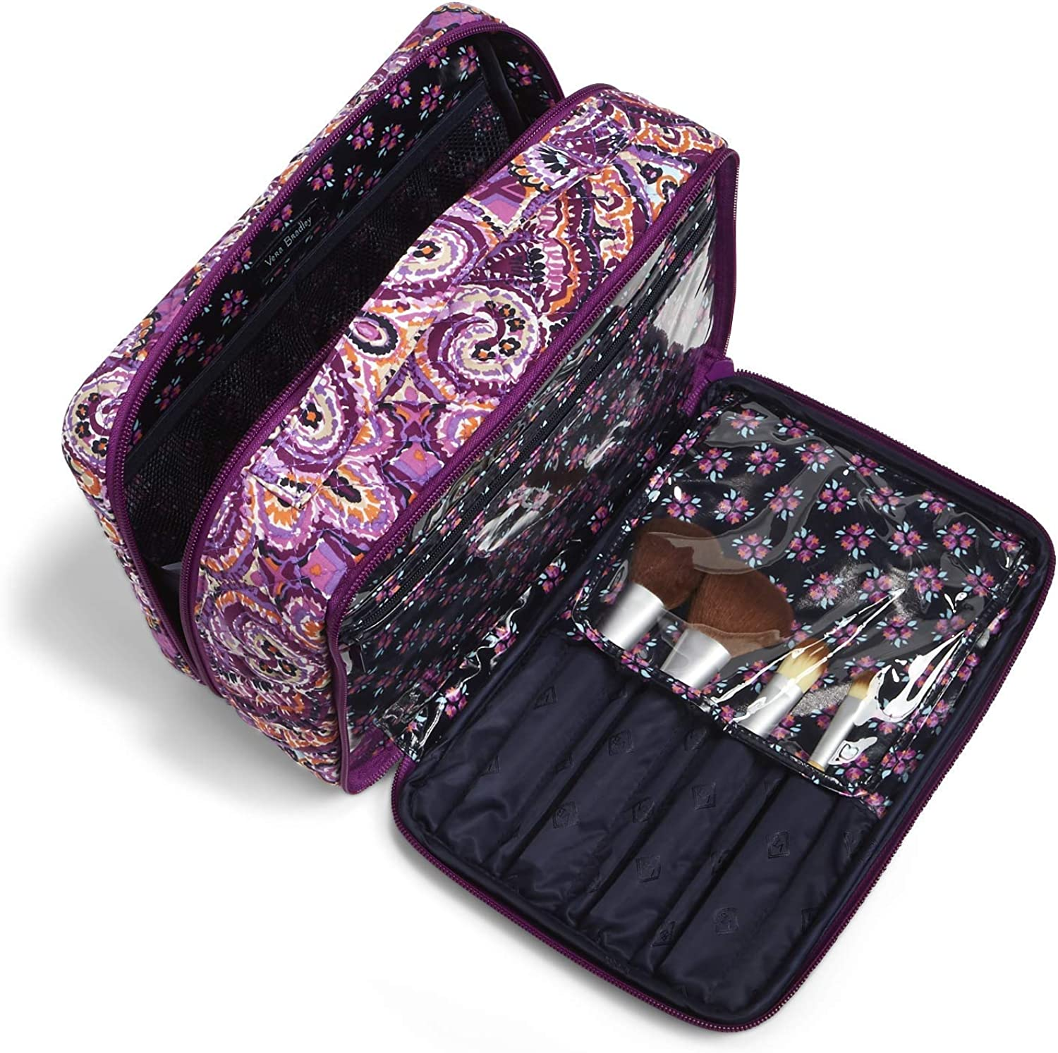 cosmetic bag for travel with hook Marble