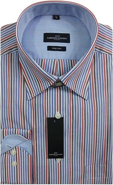 Lorenzo Calvino Milano camisa de rayas 380051/25: Amazon.es: Ropa y accesorios